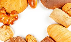 多种样式烘焙面包特写摄影高清图片