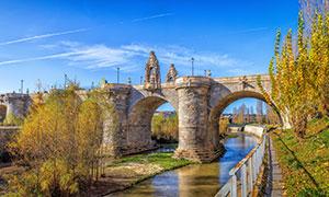 西班牙马德里桥梁风光摄影高清图片