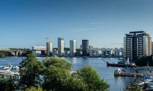 斯德哥尔摩城市建筑物摄影高清图片