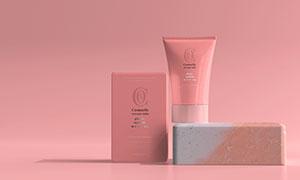 小容量包装效果护肤品样机模板素材