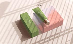 光影环境渲染的护肤品包装样机模板