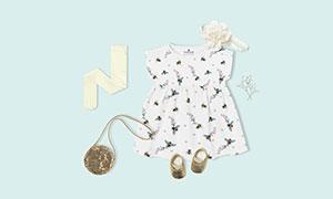儿童婴幼儿服饰产品样机模板源文件