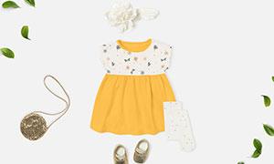 可爱宝宝裙子服饰图案印染样机模板
