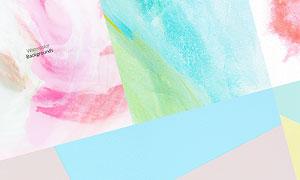 漸變與水彩等風格背景PSD分層素材