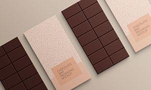 巧克力包裝圖案效果展示樣機源文件