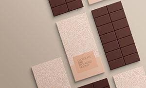 平鋪效果大板式巧克力包裝樣機模板