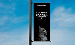 路旗廣告宣傳海報樣機模板分層素材