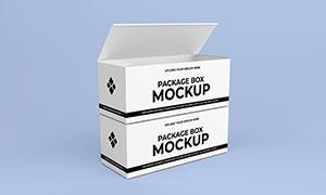 两层堆码效果的包装盒样机模板素材