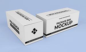 包装盒组合展示效果样机模板源文件