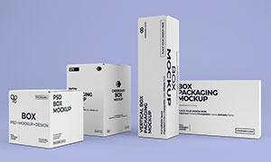 包装盒侧面展示效果样机模板源文件