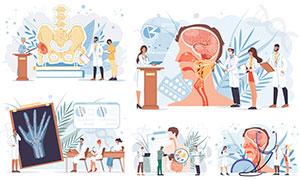 醫學院研究學習等人物繪畫矢量素材