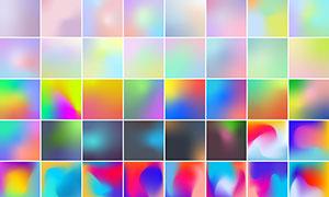 繽紛多彩漸變色彩背景創意矢量素材