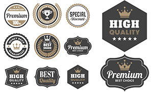 多种形状边框标签贴纸设计矢量素材