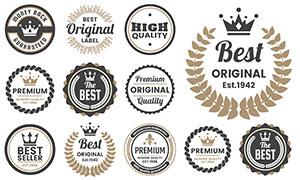 圆形样式标签贴纸创意设计矢量素材