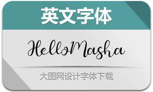 HelloMasha(英文字体)