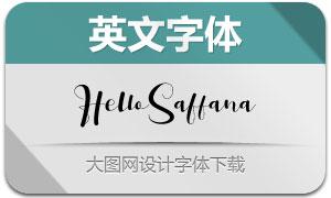 HelloSaffana(英文字体)