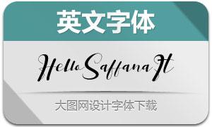 HelloSaffana-Italic(英文字体)