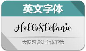 HelloStefanie(英文字体)
