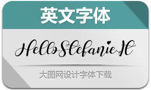 HelloStefanie-Italic(英文字体)