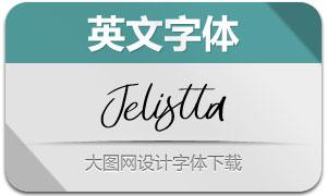 Jelistta(英文字体)
