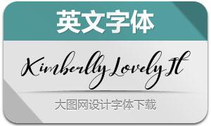 KimberllyLovely-Italic(英文字体)