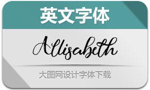 Allisabeth(英文字体)