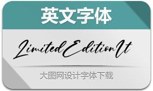 LimitedEdition-Italic(英文字体)
