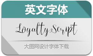 LoyaltyScript(英文字体)