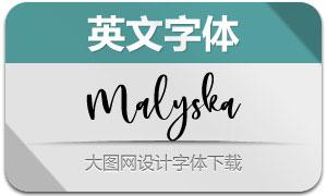 Malyska(英文字体)