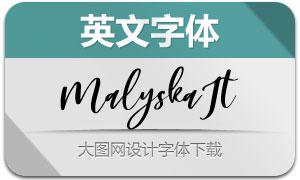 Malyska-Italic(英文字体)