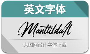 Manttilda-Italic(英文字体)