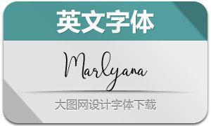 Marlyana(英文字体)