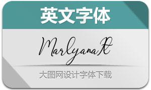 Marlyana-Italic(英文字体)