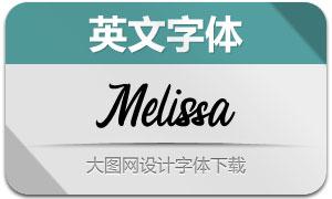 Melissa(英文字体)