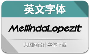 MellindaLopez-Italic(英文字体)
