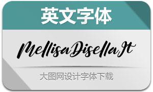 MellisaDisella-Italic(英文字体)