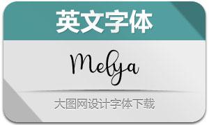 Melya(英文字体)