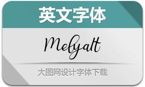Melya-Italic(英文字体)