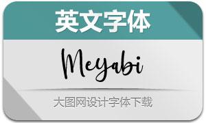 Meyabi(英文字体)