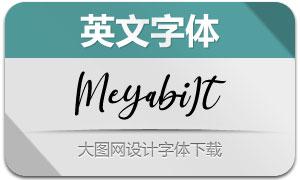 Meyabi-Italic(英文字体)