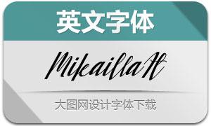 Mikailla-Italic(英文字体)