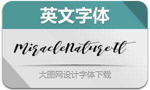 MiracleNature-Italic(英文字体)