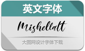 Mishella-Italic(英文字体)