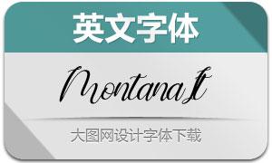 Montana-Italic(英文字体)