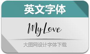 MyLove(英文字体)