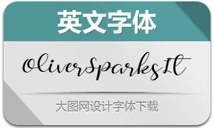 OliverSparks-Italic(英文字体)