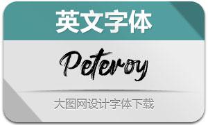 Peteroy(英文字体)