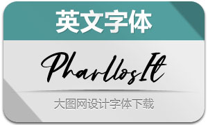 Pharllos-Italic(英文字体)