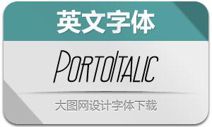 Porto-Italic(英文字体)