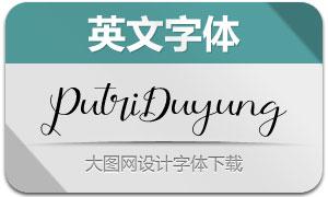 PutriDuyung(英文字体)